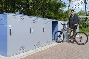"""Heidelberg: Fahrradboxen an der Haltestelle """"Rohrbach-Süd"""""""